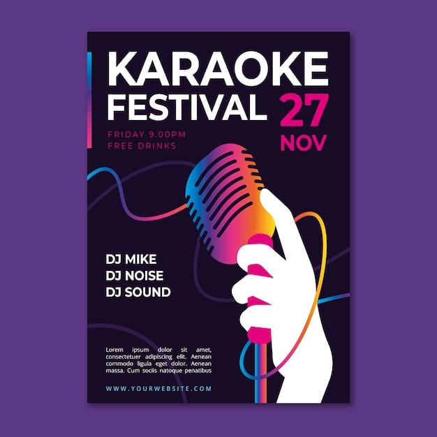Abstrakte karaoke-plakat-vorlage Kostenlosen Vektoren