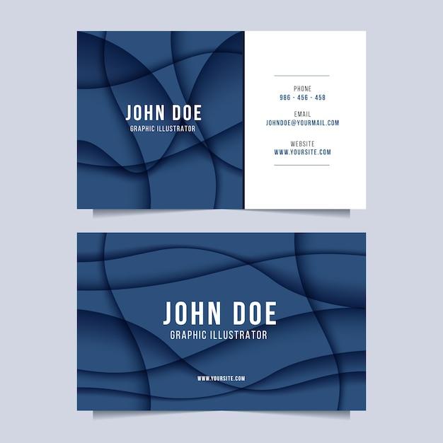 Abstrakte klassische blaue visitenkartenschablone Kostenlosen Vektoren