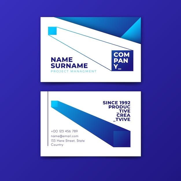 Abstrakte klassische blaue visitenkarteschablone Kostenlosen Vektoren
