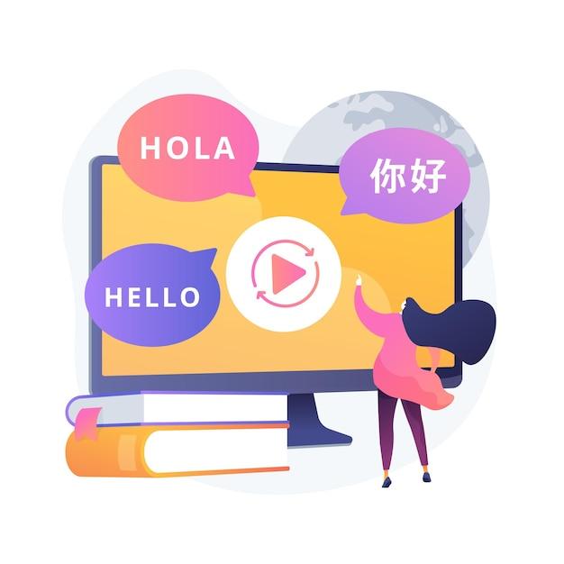 Abstrakte konzeptillustration der sprachübersetzung Kostenlosen Vektoren