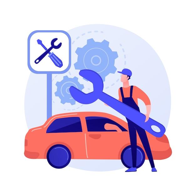 Abstrakte konzeptillustration des autoservices Kostenlosen Vektoren