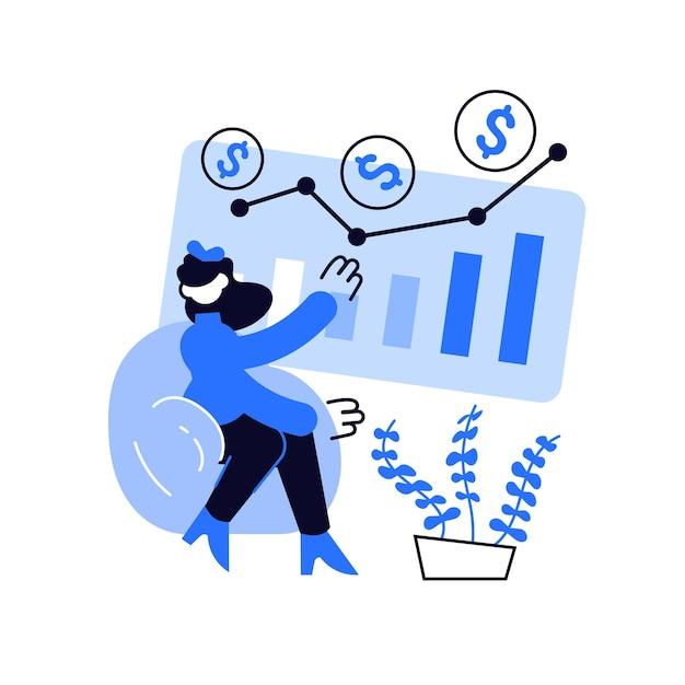 Abstrakte konzeptillustration des investmentfonds. investition Premium Vektoren