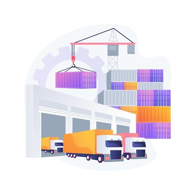 Abstrakte konzeptillustration des logistikzentrums Kostenlosen Vektoren