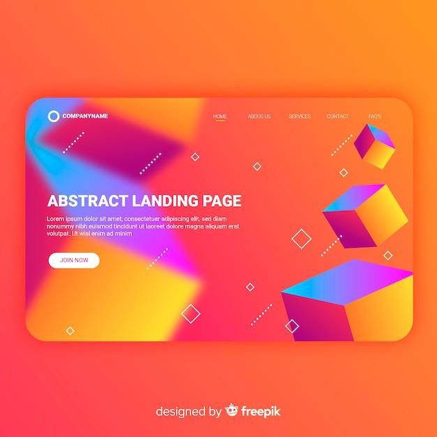 Abstrakte landing-page-vorlage Kostenlosen Vektoren