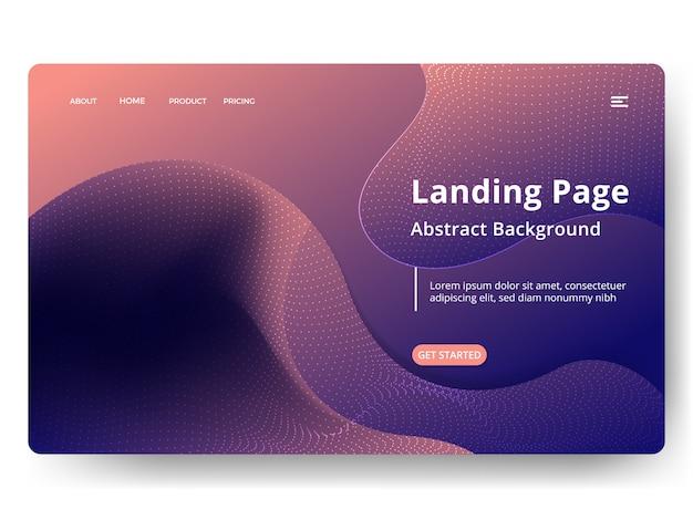 Abstrakte landing pages Premium Vektoren