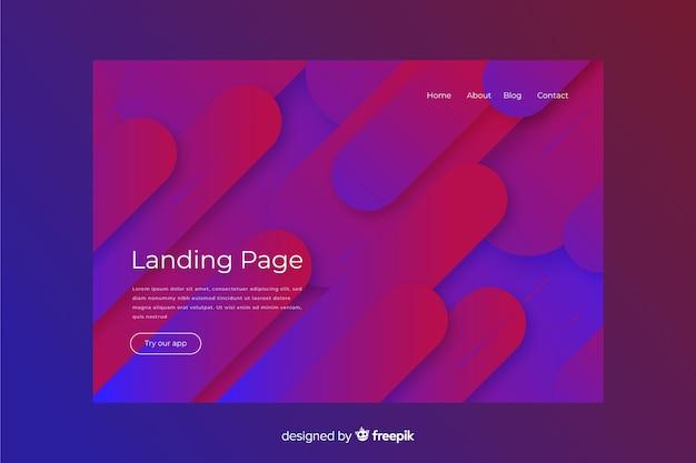 Abstrakte landingpage mit minimalem design Kostenlosen Vektoren