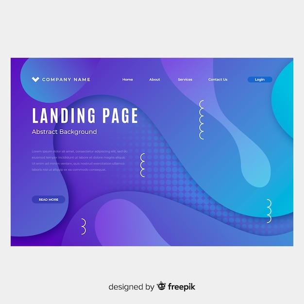 Abstrakte landingpage Kostenlosen Vektoren