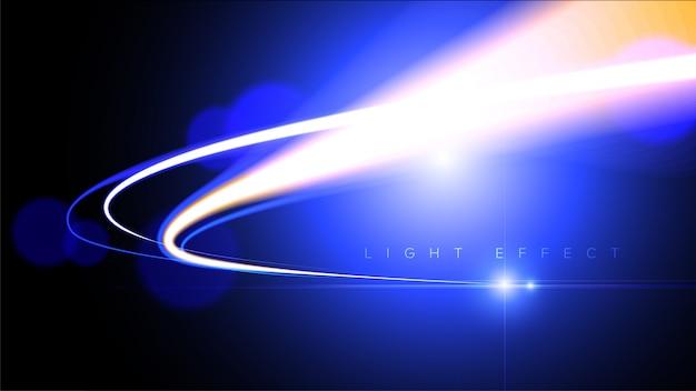 Abstrakte lichtgeschwindigkeit im vektor Premium Vektoren