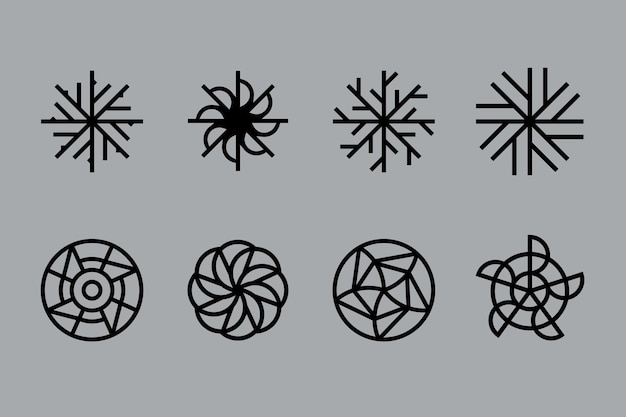 Abstrakte lineare design-logo-sammlung Kostenlosen Vektoren