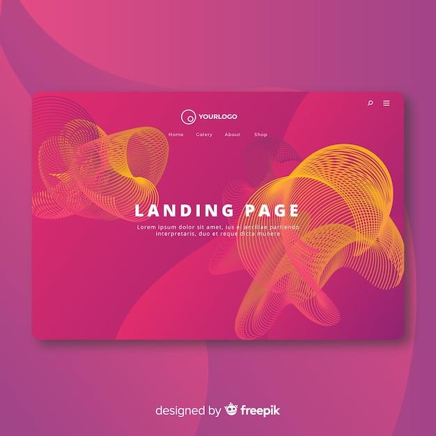 Abstrakte lineare form-landingpage Kostenlosen Vektoren