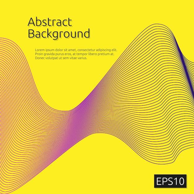 Abstrakte Linie Kunst Muster Hintergrund | Download der Premium Vektor