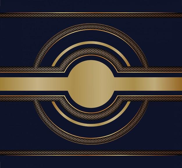 Abstrakte linie richtung auf modernen futuristischen luxushintergrund des hexagonmaschen-designs Premium Vektoren