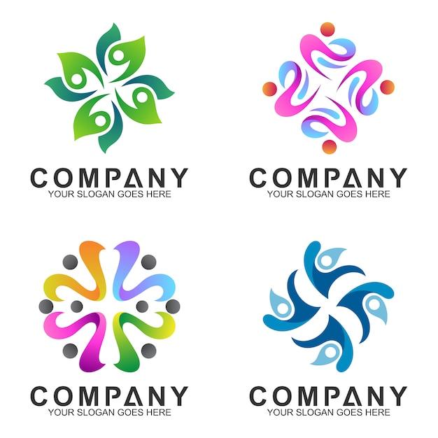 Abstrakte logo-sammlung Premium Vektoren