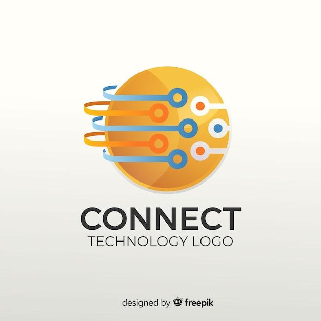 Abstrakte logo vorlage farbverlauf Kostenlosen Vektoren