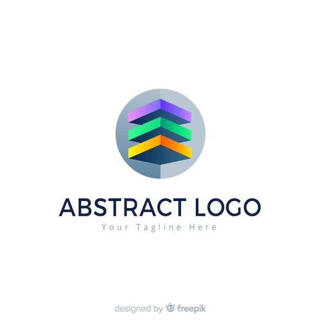 Abstrakte logo vorlage farbverlaufsart Kostenlosen Vektoren
