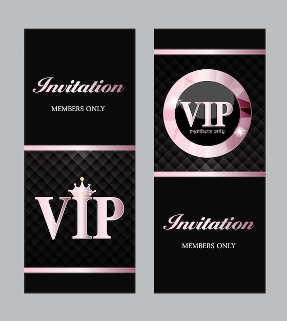 Abstrakte luxus vip members only karte Premium Vektoren