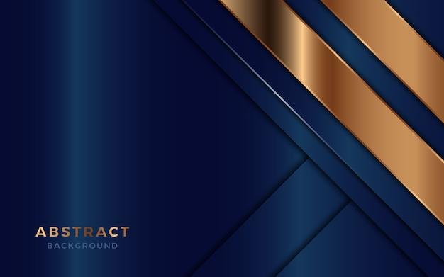 Abstrakte luxusüberschneidung überlagert hintergrund mit goldener dekoration. Premium Vektoren
