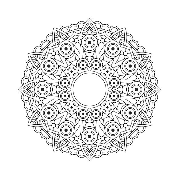 Abstrakte mandala arabesque malvorlagen buchillustration. t-shirt. blumentapetenhintergrund Premium Vektoren