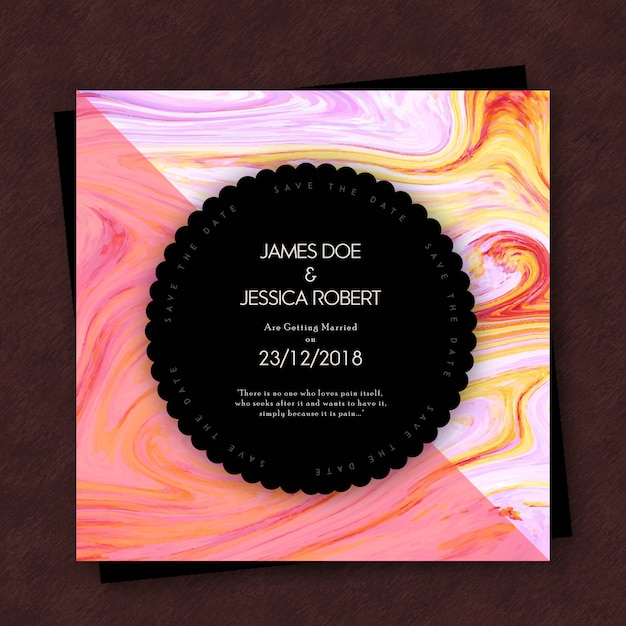 Abstrakte Marmorbeschaffenheits-Hochzeits-Einladungs-Karten ...