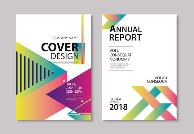 Abstrakte moderne geometrische abdeckung und broschürenschablone Premium Vektoren