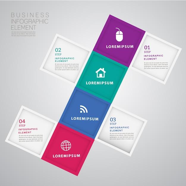Abstrakte moderne infographics schablone 3d. Premium Vektoren