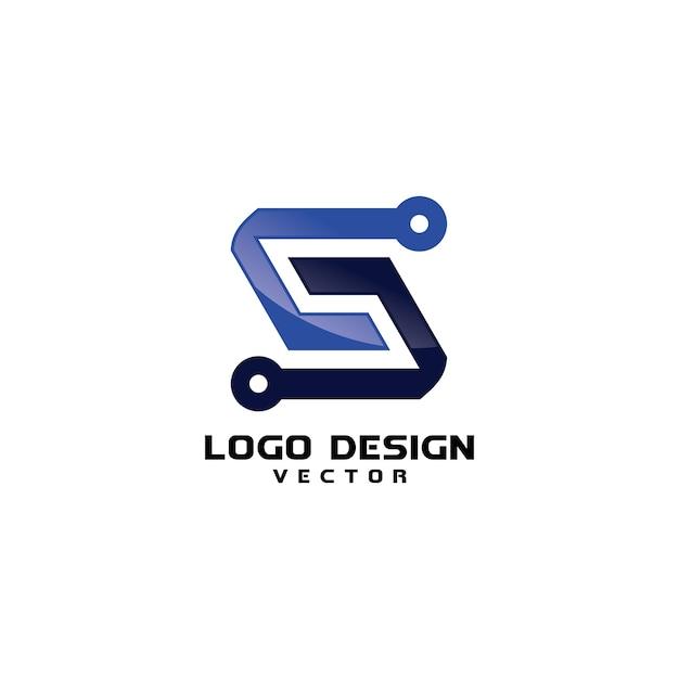 Abstrakte moderne s-symbol-firmenlogo-schablone Premium Vektoren