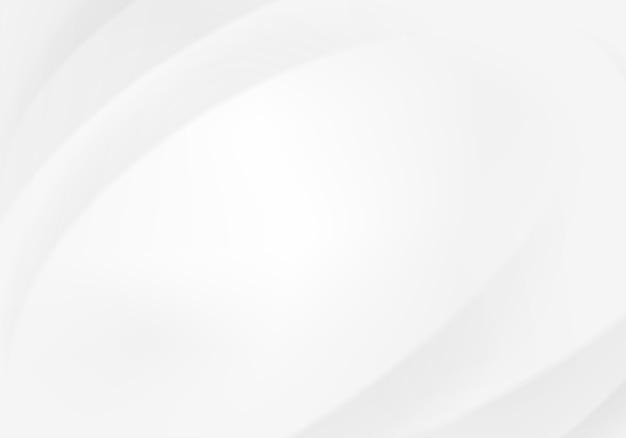 Abstrakte moderne weiße wellen und linienmuster Premium Vektoren