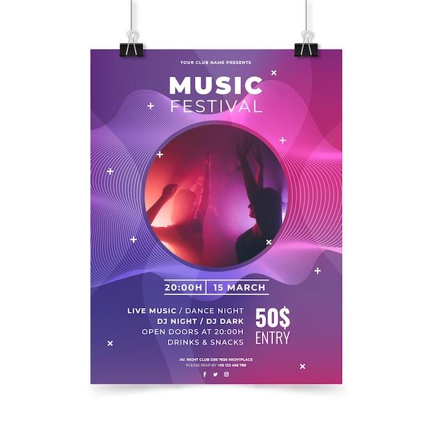 Abstrakte musik party plakat vorlage Kostenlosen Vektoren