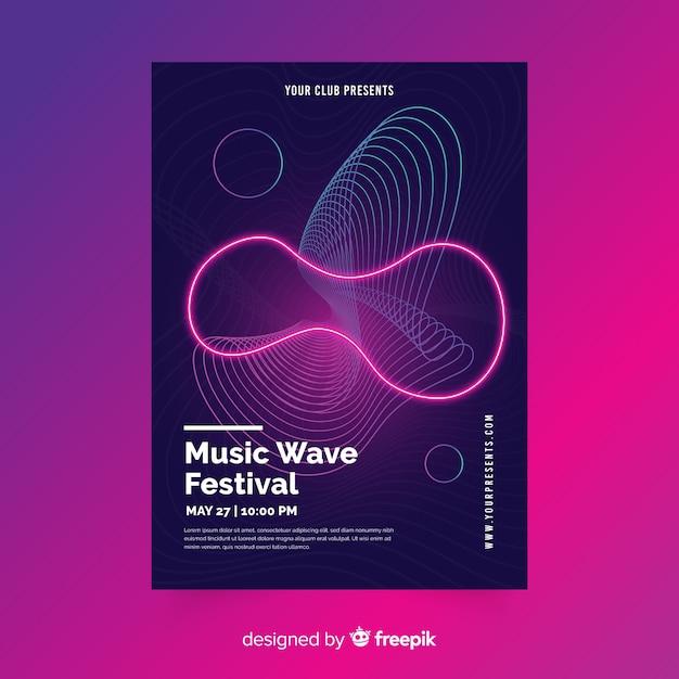 Abstrakte musik plakat vorlage Kostenlosen Vektoren