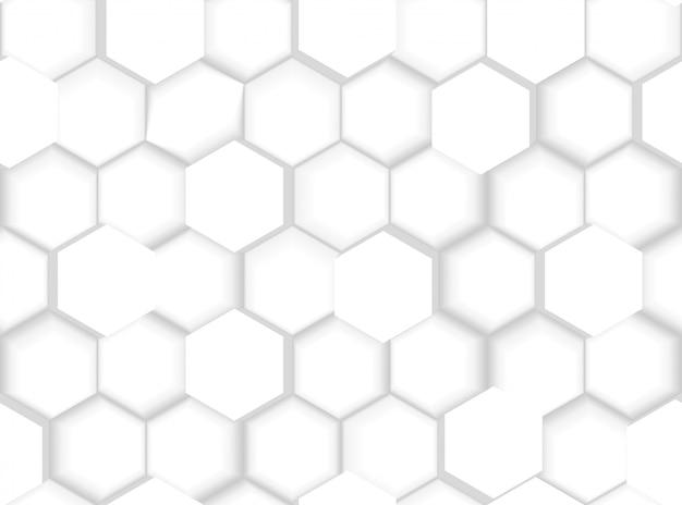 Abstrakte nahtlose sechseckige muster-beschaffenheit mit hexagonen 3d und schatten Premium Vektoren