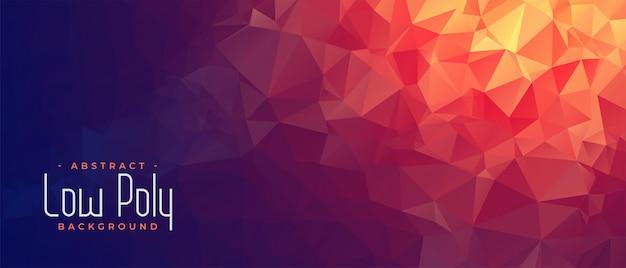 Abstrakte niedrige poly-fahne mit orange hellem schatten Kostenlosen Vektoren