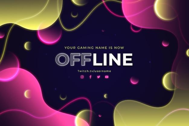 Abstrakte offline zuckende bannerschablone Kostenlosen Vektoren