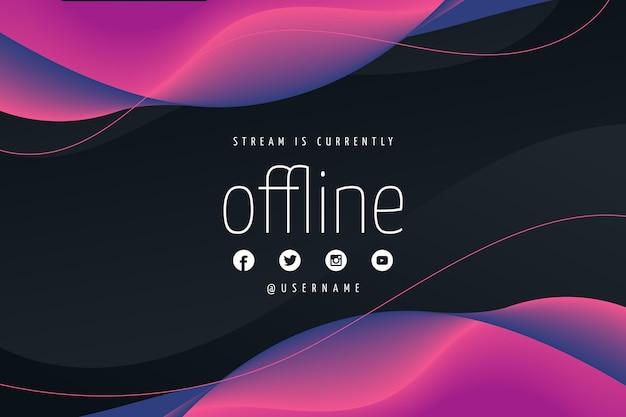 Abstrakte offline zuckende bannerschablone Premium Vektoren
