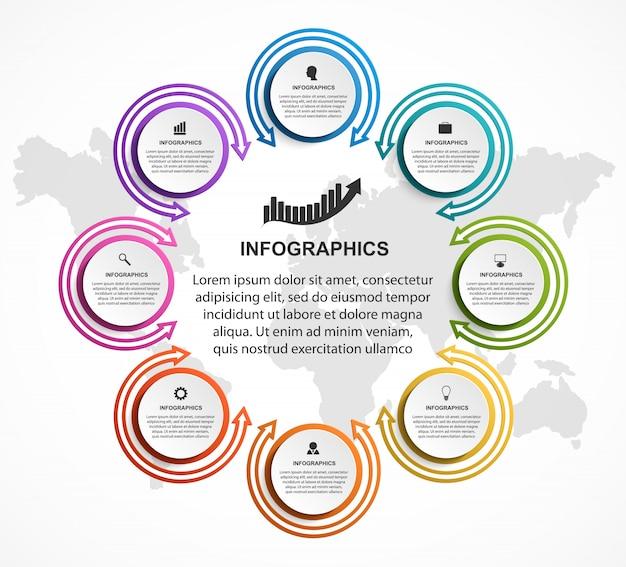 Abstrakte optionen infografiken vorlage. Premium Vektoren