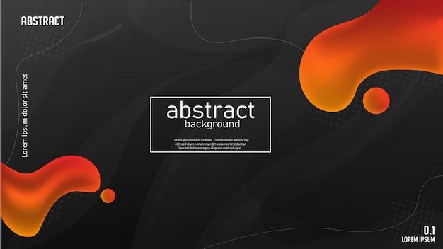 Abstrakte orange flüssigkeit mit dunklem hintergrund Premium Vektoren
