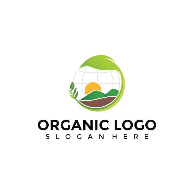Abstrakte Organische Landwirtschaft Logo Vorlage Download
