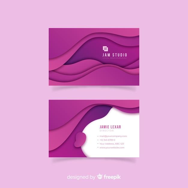 Abstrakte papiervisitenkarteschablone Kostenlosen Vektoren