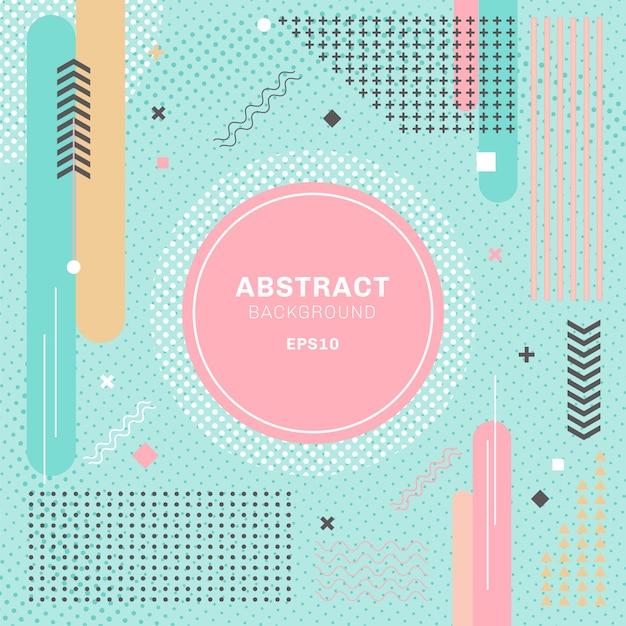Abstrakte pastelle färben geometrischen hintergrund Premium Vektoren