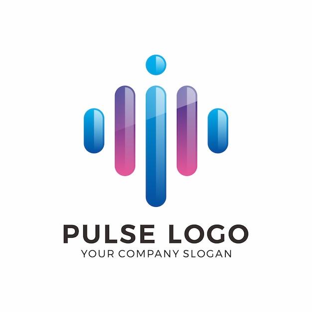 Abstrakte puls-logo-design Premium Vektoren