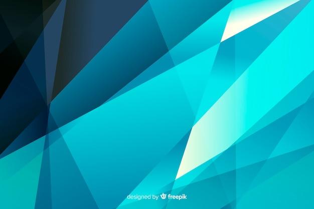 Abstrakte pyramiden auf blau schattiert hintergrund Kostenlosen Vektoren