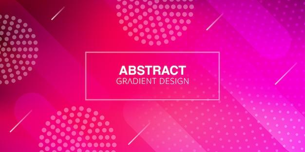 Abstrakte rosa steigungshintergrundschablone Premium Vektoren