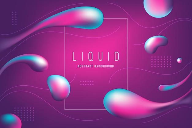 Abstrakte rosa und purpurrote flüssige blasenfahne und -hintergrund Premium Vektoren