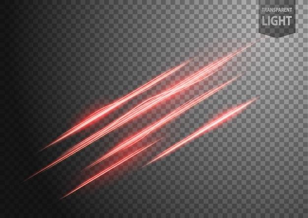 Abstrakte rote gewellte lichtlinie Premium Vektoren