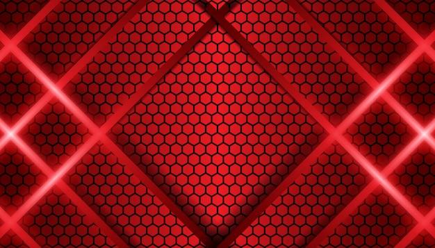 Abstrakte rote linie metallischer formhintergrund Premium Vektoren