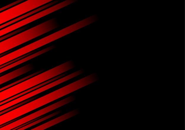Abstrakte rote linie und schwarzer hintergrund für visitenkarte Premium Vektoren