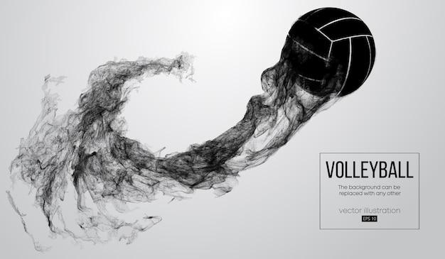 Abstrakte schattenbild einer volleyballballillustration Premium Vektoren