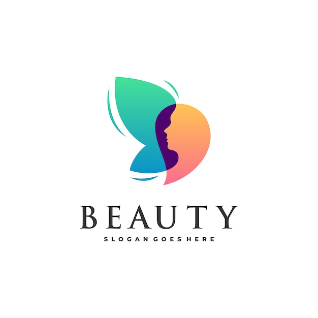 Abstrakte schönheitsfrauen und -schmetterling Premium Vektoren