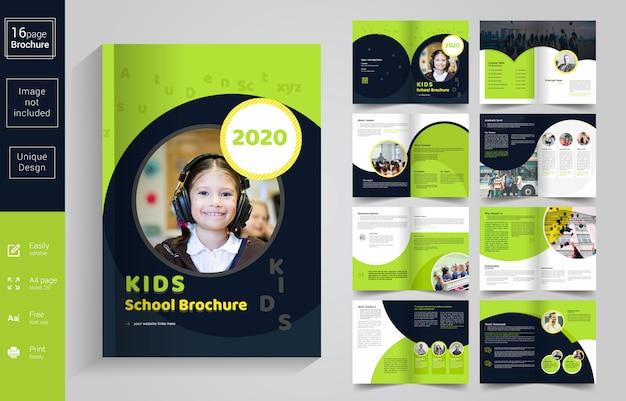Abstrakte schule scherzt broschüren-schablone Premium Vektoren