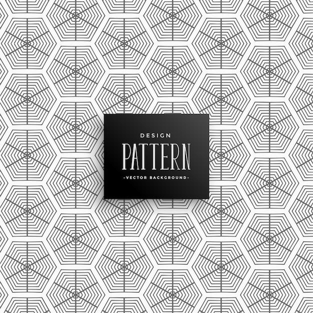 Abstrakte sechseckige Linien Muster Hintergrund | Download der ...