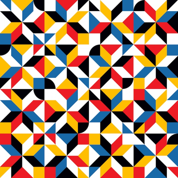 Abstrakte sich wiederholende formen mosaikmuster Premium Vektoren